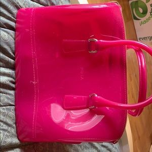 Hot pink furla candy bag collection purse